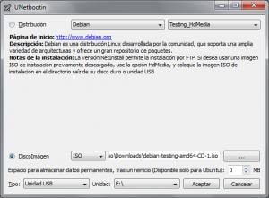 UNetbootin Debian