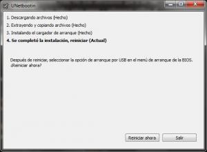 UNetbootin Debian reboot