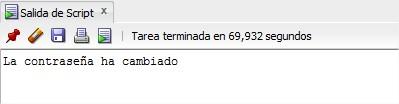 SQL Developer: Contraseña cambiada correctamente.