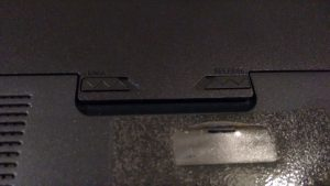 Batería extraíble del portátil.