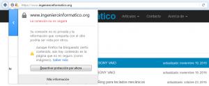 Detalle de contenido no seguro en ingenieroinformatico.org.
