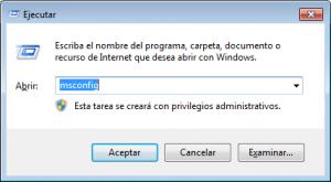 Cuadro de Ejecutar de Windows